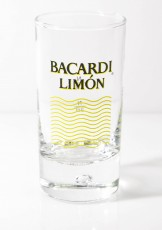 Bacardi Rum Limon Glas / Gläser, Stamper, Shotglas, Schnapsglas