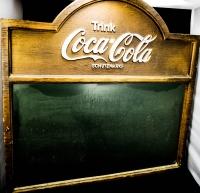 Coca Cola Kreidetafel, Schreibtafel, 61 x 59cm im Holzdesign