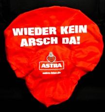 Astra Bier Sattelbezug Fahrradsitz Hülle WIEDER KEIN ARSCH DA!