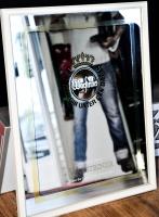 Warsteiner Bier, Werbespiegel, Barspiegel, Spiegel, Kunstoffrahmen