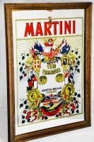 Martini Werbespiegel, Barspiegel, Spiegel in Holzrahmen, Vermouth