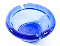 Gauloises Tabak Mini-Aschenbecher, Glas, rund.