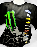 Monster Energy, Hoonigan T-Shirt Monster Ken Block Rally Division Team schwarz L