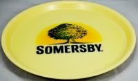 Somersby Cider, Serviertablett, Rundtablett, beige gummiert, 37 cm