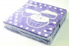 Milka Schokolade, 20 x Papier Servietten Muffin, lila