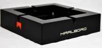 Marlboro Metall Aschenbecher eckig, schwarz Black Line Bar 2010