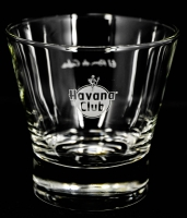 Havana Club Rum Tumbler, Glas, Gläser, Whiskyglas, El ron de Cuba Logo hinten FB 25