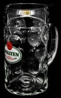 Holsten Pilsener Bier, Glas / Gläser, Krug, Maßkrug, Humpen, Siegel weiß, 1 L