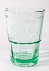 Bacardi Rum, Mojito Cocktail Glas, Relief Prägung, große grüne Ausführung, 36cl, 2cl/4cl