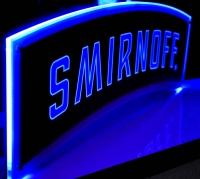 Smirnoff Vodka, LED Leuchtreklame Illuminated sign, Wechselfarbend. Ambilight