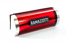 Ramazzotti Likör, Tischaufsteller, Kartenhalter, Edelstahl, rote Ausführung