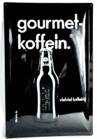Fritz Cola, XXL Blech Werbeschild, Blechschild Gourmet-Koffein