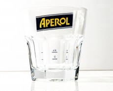 Aperol Spritz, Cocktail Glas, Relief Glas, blau - gelbe Ausführung, 2cl 4cl