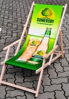 Somersby Cider, Buchenholz Liegestuhl, Strandstuh, grüne Ausführung Somersby