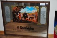 Krombacher Werbespiegel, Barspiegel, Spiegel groß in Holzrahmen, 73cm x 58cm