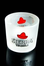 Sierra Tequila, Glas Windlicht, Teelicht in weiß satinierter Ausführung