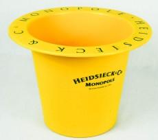 Heidsieck Champagner, Flaschenkühler, Eiswürfelbehälter, gelbe Ausführung