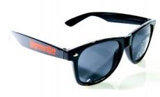 Jägermeister Brille, Sonnenbrille, Wayfarer, Nerd UV 400 Kat.3, schwarze Ausf.