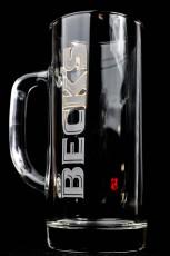 Becks Bier Vegas Krug, Bierglas, Seidel 0,4l, neue Ausführung