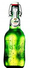 Grolsch Bier, Blechschild als Flasche