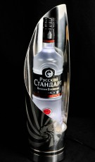 Russian Standard, LED Edelstahl Flaschenleuchte, Leuchtreklame