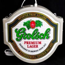 Grolsch Bier, Bier, Premium Lager, Leuchtreklame