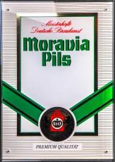 Moravia Pils, Werbeschild, Acrylschild, Meisterhafte Braukunst