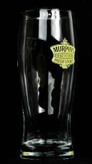 Murphys Beer, Bierglas, half Pint, Pintglas 0,5l, Irish Stout