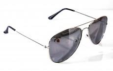 Jim Beam Whisky, Piloten Spiegel Sonnenbrille, Metallgestell, UV 400, Kat. 3