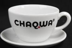 Chaqwa Kaffee, Kaffee Tasse mit Untertasse, Tafelstern Porzellan