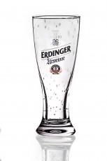 Erdinger Urweisse Weißbierglas Bierglas im Perleffect 0,5l, Handgefertigt