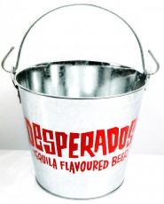 Desperados Bier, Eiswürfeleimer, Flaschenkühler, verzinkt, rotes Logo,Flavoure
