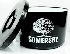 Somersby Cider, Eiswürfelbehäter, Flaschenkühler, schwarze Ausführung, 10l