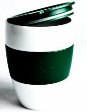 Jacobs Krönung Thermobecher / Kaffeebecher mit Verschluß, Kunststoff