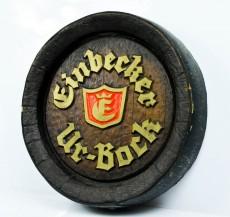 Einbecker Bier, Ur Bock Faßbodenschild, Werbeschild Einbecker Ur-Bock