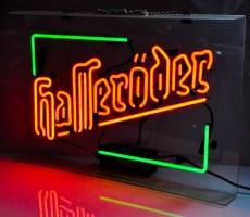 Hasseröder Bier, Acryl Neon Leuchtreklame, Leuchtwerbung, 2 farbig, sehr selten!