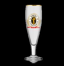 Engel Bier, Pokalglas Bierglas, Biergläser, Glas / Gläser, Goldrand, 0,4 l