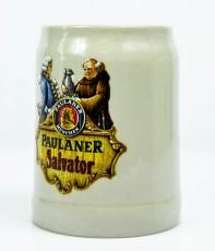 Paulaner Weissbier, Mini Tonkrug, Steingut Seidel 0,25l Salvator