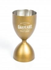 Bacardi Rum Oakheart, Edelstahl Jigger, Meßbecher 2cl, 4cl, bronze