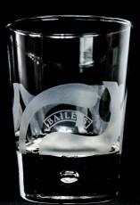 Baileys Glas / Gläser, Tumbler - Baileys Editions mit der Perle im Fuß Mattwelle