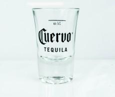 Cuervo Jose Tequila, Shotglas, Stamper, kurze Ausführung, 2cl