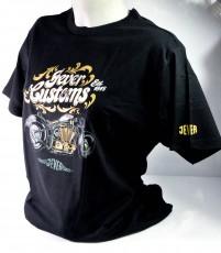 Jever Bier Biker T-Shirt Motiv 1 Customs schwarz in XL m. Logo