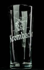 Krombacher Bier, Gläser, Bierglas, Biergläser Germania Becher Relief 0,3l