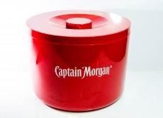 Captain Morgan Rum, 10l Eiswürfelbehälter, Flaschenkühler, rote Ausführung 3teilig