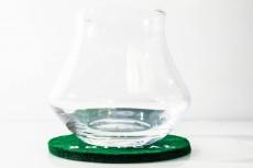 Botucal Rum, Rum Tumbler, Rum Glas, Gläser, konisch mit runden Filzuntersetzer
