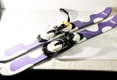 Milka Schokolade, Kurzski, Snowskate Blades mit Bindung 100 cm