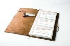 Botucal Rum, Notizheft mit Visitenkartenfächern aus Leder, sehr edel in Säckchen