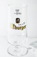 Bitburger Bier, Pokalglas, Bierglas, 0,3 l große Ausführung