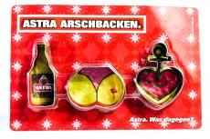 Astra Bier, 3 x Ausstechform, Backform Arschbacken