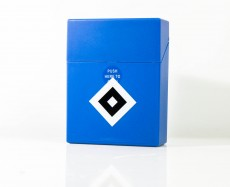 Zigarettenbox Big, Etui, HSV Hamburg Hamburger SV Sprungdeckel, blue